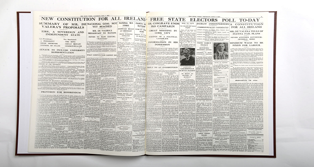 Newspaper Book Spread - Irish Times